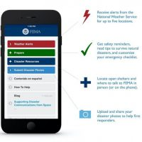 Image showing screen of FEMA App