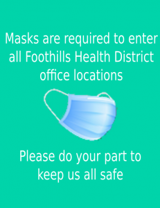 Image showing face covering stating masks are required to enter our buildings